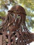 Passe a escultura da cabeça de Jesus Christ que pendura em uma cruz em Miami, Florida Fotografia de Stock