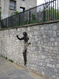 Passe-Muraille bronze sculpture, Paris, France Stock Photo
