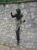 Passe-Muraille Bronzeskulptur, Paris, Frankreich lizenzfreies stockfoto