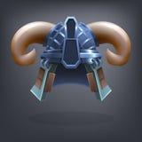 Passe o capacete da armadura da fantasia para o jogo ou os cartões Imagem de Stock