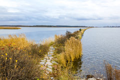Passe perto da boca do Vistula River, Polônia Imagem de Stock