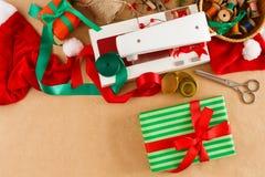 Passe-temps diy créatif Décoration faite main de Noël de métier Photographie stock