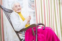 Passe-temps plus âgé de détente Image libre de droits