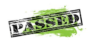 Passed black and green stamp on white background. Passed black and green  stamp Royalty Free Stock Photos