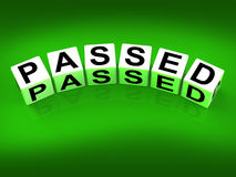 Passed Blocks Refer to Satisfied Verified Royalty Free Stock Photography