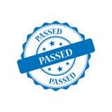 Passed stamp illustration. Passed blue stamp seal illustration design Stock Photography