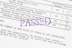Passed the board examination Stock Images