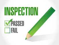 Passed inspection check list illustration design Royalty Free Stock Photos