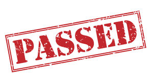 Passed red stamp. On white background Royalty Free Stock Photography