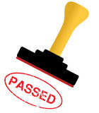 Passed rubber stamp Royalty Free Stock Photography
