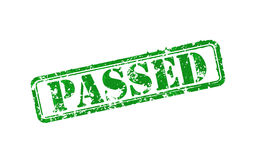Passed rubber stamp Stock Images