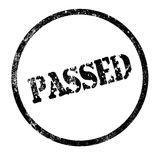 Passed. A passed rubber stamp impression isolated over a white background Royalty Free Stock Photography