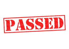 PASSED. Rubber Stamp over a white background Royalty Free Stock Photos