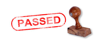 PASSED Rubber Stamp Stock Photos