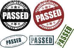 Passed Rubber Stamps Seals (Vector) Royalty Free Stock Images