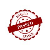 Passed stamp illustration. Passed red stamp seal illustration design Stock Photography