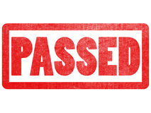 Passed text sign label stamp. Passed red text sign label stamp texture on isolated white paper background Stock Photo