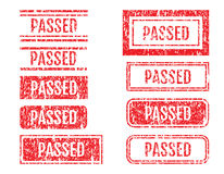 Passed Word Rubber Stamps Grunge Style Set Royalty Free Stock Photo