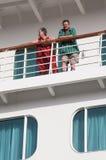Passegers de bateau de croisière Photos stock
