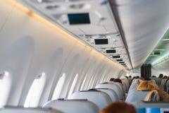 Passeggeri in aerei durante i nuovi aerei di volo Fotografia Stock