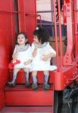 Passeggeri del treno Fotografia Stock