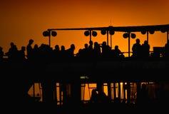 Passeggeri della barca Immagine Stock