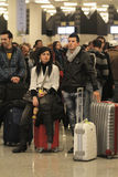 Passeggeri incagliati aeroporto 053 Fotografie Stock Libere da Diritti