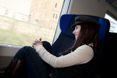 Passeggero del treno Immagini Stock Libere da Diritti