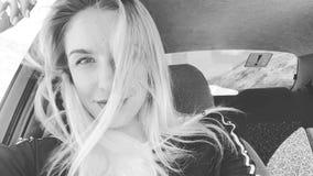 Passeggero della donna in automobile stock footage