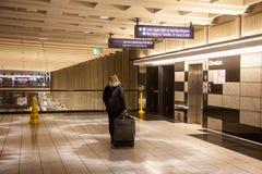 Passeggero della stazione ferroviaria Immagini Stock
