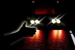 Passeggero di notte Immagini Stock