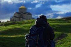 Passeggiata al tempio Fotografie Stock
