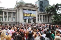 Passeggiata annuale dello zombie in Vancouve, Canada immagini stock libere da diritti