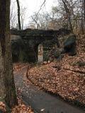 Passeggiata attraverso il Central Park fotografia stock