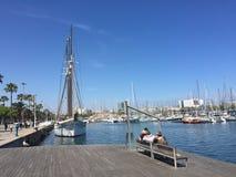 Passeggiata a Barcellona immagini stock