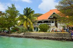 Passeggiata in Bequia, caraibica Fotografie Stock