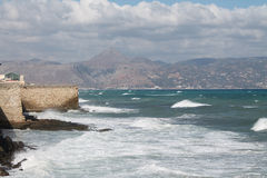 Passeggiata dalla fortezza veneziana Koules Immagini Stock