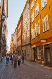Passeggiata dei turisti a Stoccolma Immagine Stock Libera da Diritti