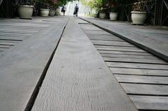 Passeggiata del bordo di legno Fotografia Stock