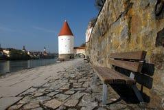 Passeggiata del fiume in Germania fotografia stock