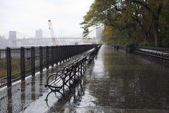 Passeggiata del ponte di Brooklyn Fotografie Stock