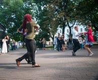 passeggiata del valzer nel centro urbano Fotografia Stock