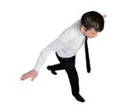 Passeggiata dell'equilibrio dell'uomo di affari Fotografia Stock
