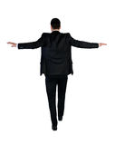 Passeggiata dell'uomo di affari rischiosa Fotografie Stock Libere da Diritti