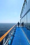 Passeggiata della nave da crociera Fotografia Stock