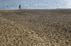 Passeggiata della sabbia Fotografia Stock