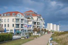 Passeggiata della spiaggia in Burgtiefe fotografia stock