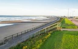 Passeggiata della spiaggia di Aberdeen Immagine Stock Libera da Diritti