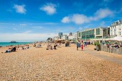 Passeggiata della spiaggia di Brighton fotografia stock libera da diritti