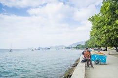 Spiaggia di Dili nel Timor Est Fotografia Stock
